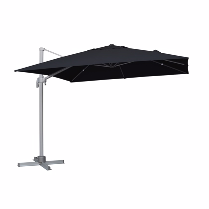 Stor parasol model løkken sort